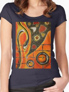 The Fires Of Charged Emotions.. Women's Fitted Scoop T-Shirt