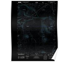 USGS Topo Map Oregon Pumice Desert West 20110722 TM Inverted Poster