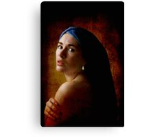 Girl With.... Canvas Print
