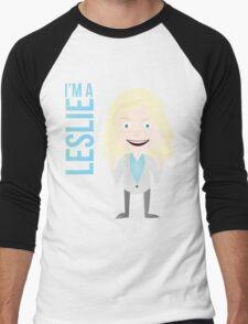 i'm a leslie Men's Baseball ¾ T-Shirt