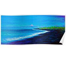 Kawi Lava Flow, N. Kona Poster