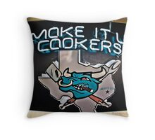 Smoke it up Cookers Bull Throw Pillow