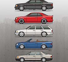 Stack of Mercedes Benz W124 E-Class by Tom Mayer