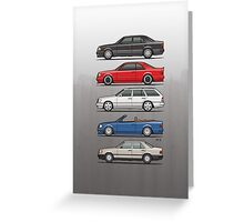 Stack of Mercedes Benz W124 E-Class Greeting Card