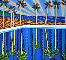 Pool and Palms  by richard  webb