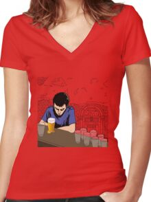One For The Road Women's Fitted V-Neck T-Shirt