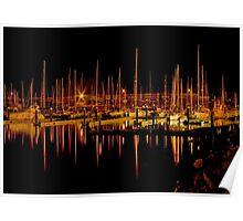 Marina Reflections Poster