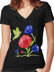 Patriotic July 4th  tee  Women's Fitted V-Neck T-Shirt