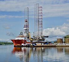 In the Harbour at Invergordon, Scotland by Gerda Grice
