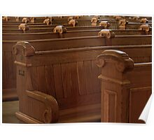 Empty Pews And Voiceless Prayers Poster