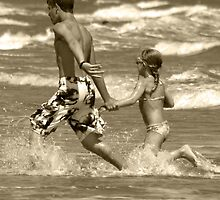 Running in the Surf by Kent Nickell