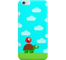 Turtle Birdy Buddies (Sky) iPhone Case/Skin