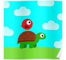 Turtle Birdy Buddies (Sky) Poster