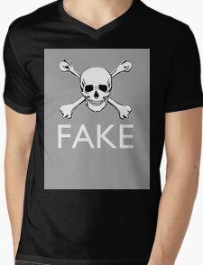 """Piracy Fake"" Mens V-Neck T-Shirt"