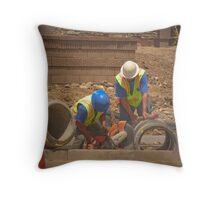 Builders Throw Pillow