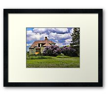 Plains Pioneer Home Framed Print