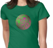 Vaporwave-Lime Energy Sphere Womens Fitted T-Shirt