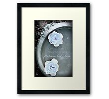 Loss of a Precious Baby Boys Framed Print