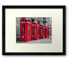 Telephone booths Framed Print