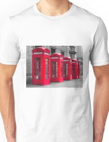 Telephone booths Unisex T-Shirt