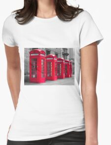 Telephone booths Womens Fitted T-Shirt