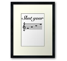 Funny Music Design Framed Print