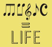 Music is life  Baby Tee