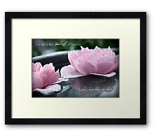 Find Her in the Smallest of Miracles Framed Print