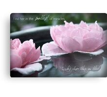 Find Her in the Smallest of Miracles Metal Print