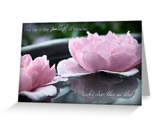 Find Her in the Smallest of Miracles Greeting Card