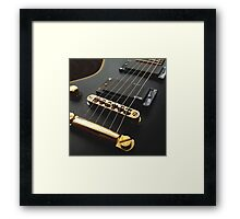 Black Guitar Framed Print