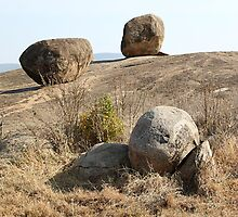 Balancing Rock Formations. Kopjes in Tanzania  by Carole-Anne