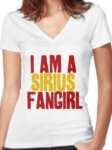 I Am a Sirius Fangirl Women's Fitted V-Neck T-Shirt