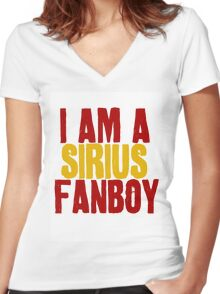 I Am a Sirius Fanboy Women's Fitted V-Neck T-Shirt