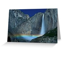 Yosemite Falls Moonbow Greeting Card