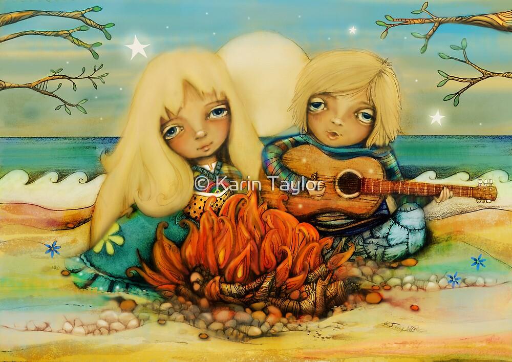 beach campfire by © Karin Taylor