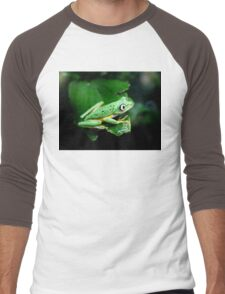 Watching from behind the glass Men's Baseball ¾ T-Shirt