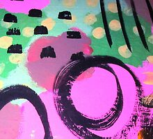 Mixed Media Abstract Painting  by triciaanne