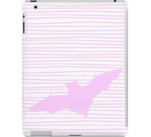 Pink Bat with Geometric Lines iPad Case/Skin