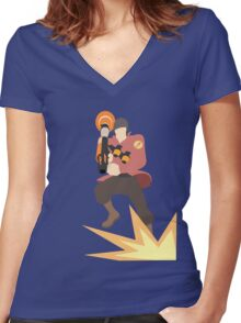 TF2 - RED Rocket Jump  Women's Fitted V-Neck T-Shirt