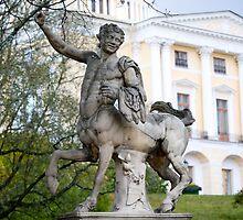 Pavlovsk Palace,  Statue of centaur  by torishaa