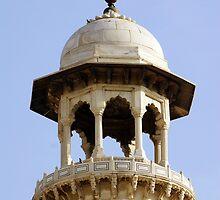 Taj Mahal minaret by John Mitchell