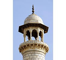 Taj Mahal minaret Photographic Print