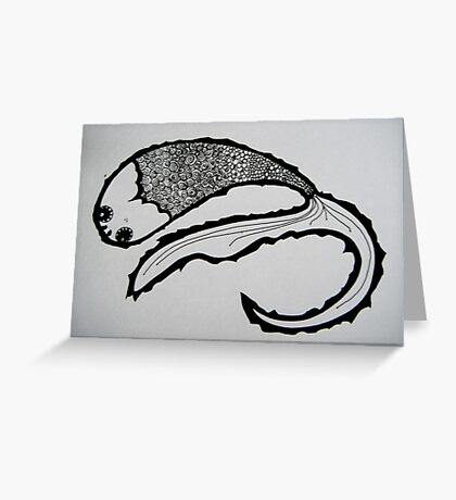 Fish Doodle - Foodle Greeting Card