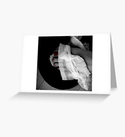 Red Nails, Top Hat, Bandages Greeting Card