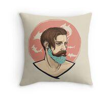 Flower Beard v1 Throw Pillow