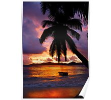 Sunset in La Digue Poster