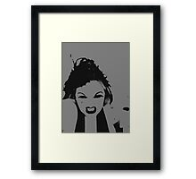 Tantrum with Feathers Framed Print