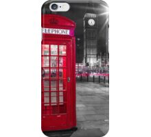 Telephone Booth with Big Ben iPhone Case/Skin