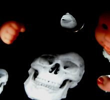 Black Box Skull, Dolly and Reflections by PeopleInMyHead